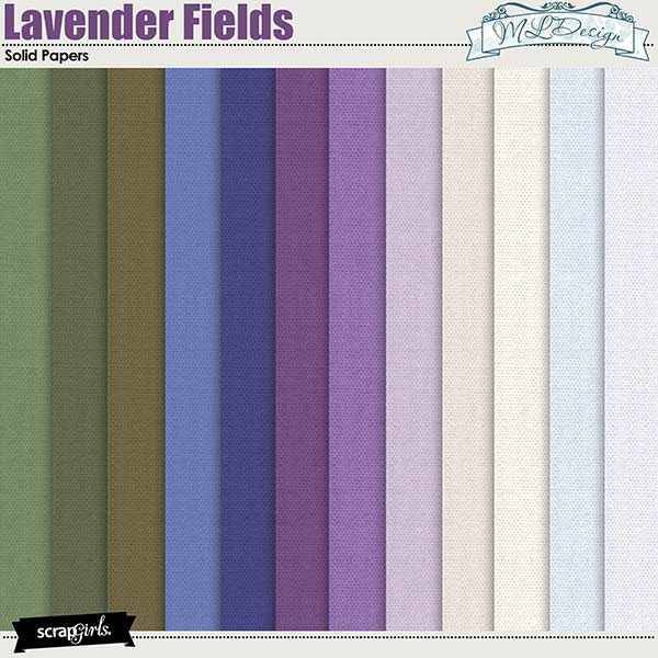 Lavender Fields Solid Papers