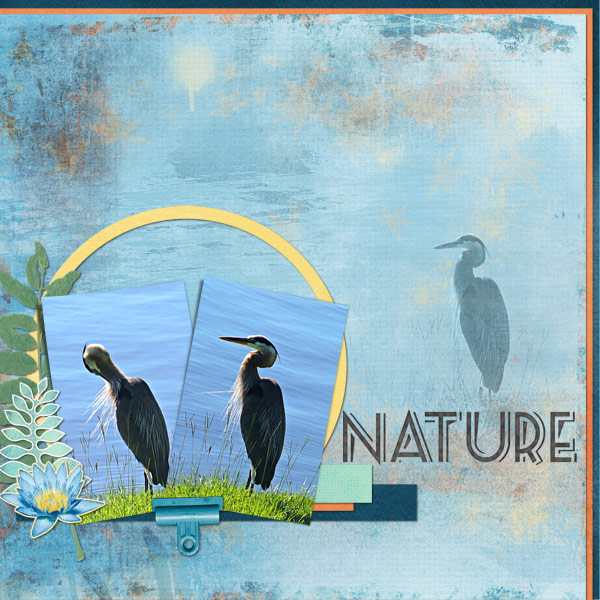 """Nature"" layout featuring Cottage Reflections Collection (see supply list below)"