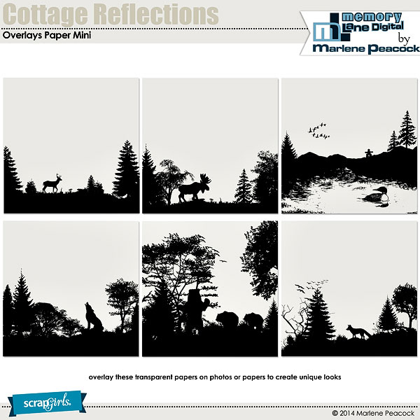 Cottage Reflections Overlays Paper Mini
