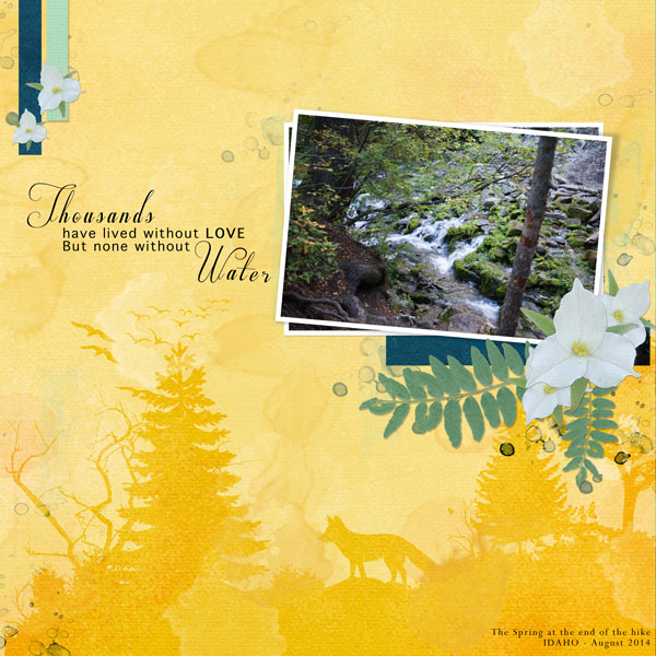 """""""Thousands"""" digital scrapbook layout features Value Pack: Cottage Reflections (see supply list below)"""