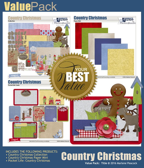 Value Pack: Country Christmas