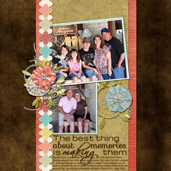 """Making Memories"" layout showcases Slightly Shabby Papers (see supply list below)"