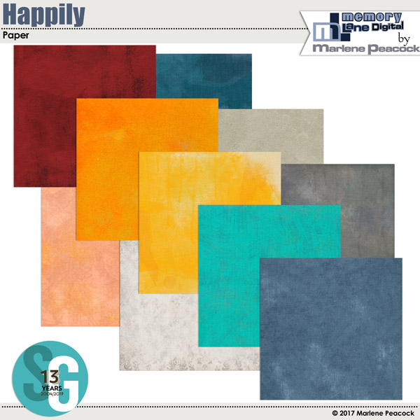 Happily Digital Scrapbooking Paper