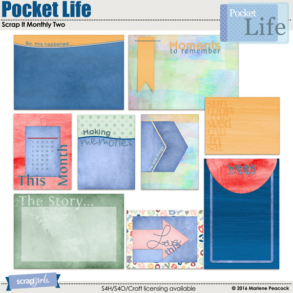 Pocket Life: Scrap It Monthly Two