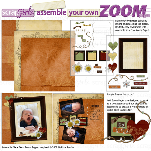 Assemble Your Own Zoom Pages: Inspired