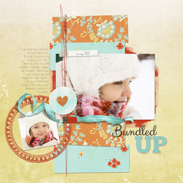 """Bundled Up"" Layout by Melissa Renfro ingredients linked below."