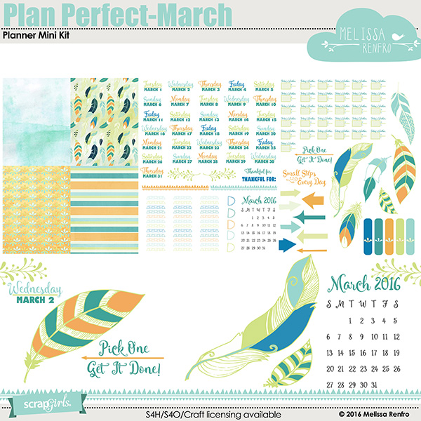 Plan Perfect March Planner Mini Kit