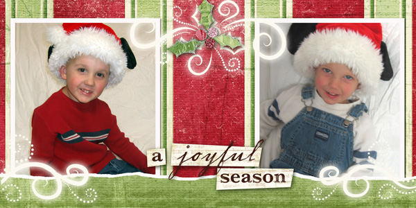 Card using the Holiday Photocard Templates and A Joyful Season Collection Biggie