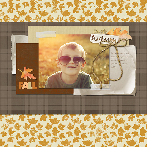 ScrapSimple Paper Templates: Warm and Cozy Plaid Layout