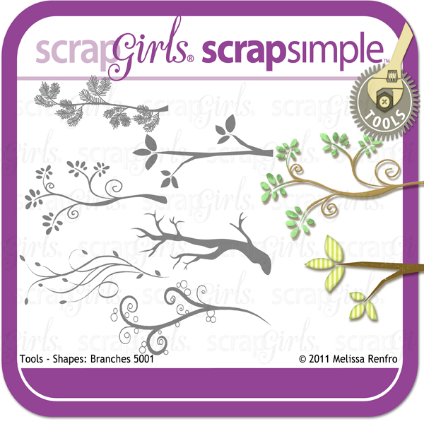ScrapSimple Tools - Shapes: Branches 5001