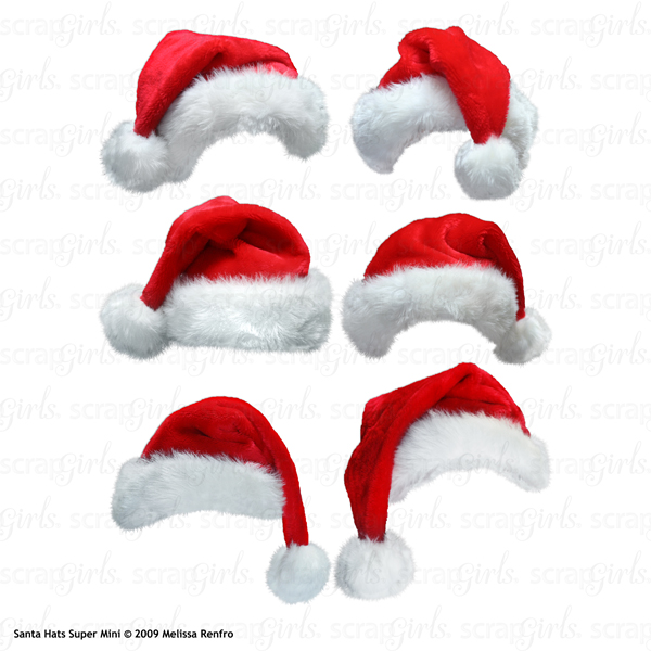 Santa Hats Embellishment Mini