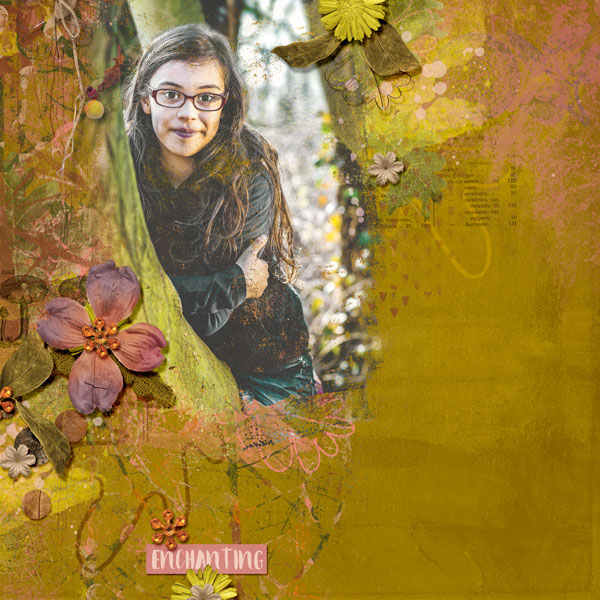 Digital layout using Value Pack: Woodland Walks by On A Whimsical Adventure