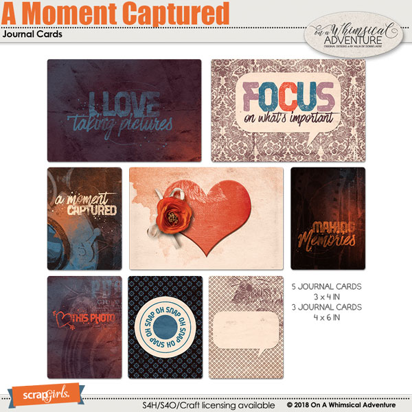 A Moment Captured Journal Cards by On A Whimsical Adventure