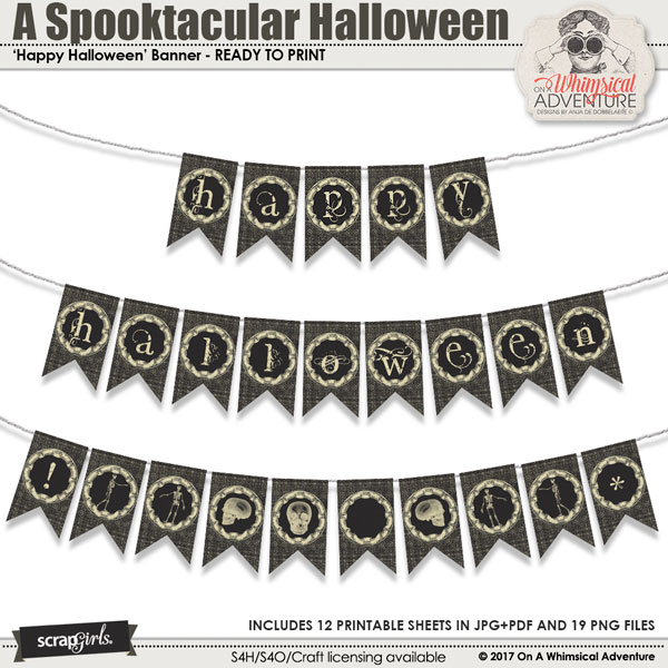 A Spooktacular Halloween Party Banner by On A Whimsical Adventure