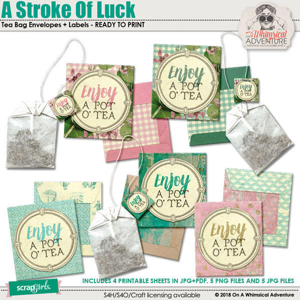 A Stroke Of Luck Tea Bag Envelopes by On A Whimsical Adventure