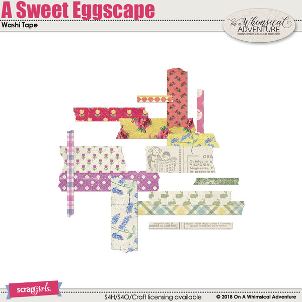 A Sweet Eggscape Washi Tape by On A Whimsical Adventure