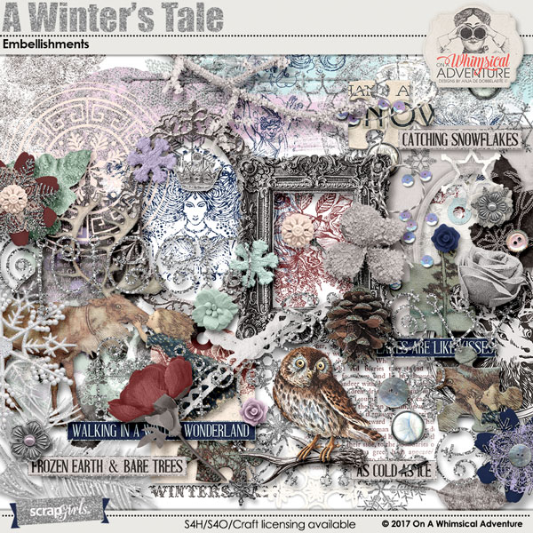 A Winter's Tale Embellishments by On A Whimsical Adventure
