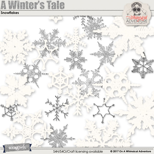 A Winter's Tale Snowflakes by On A Whimsical Adventure