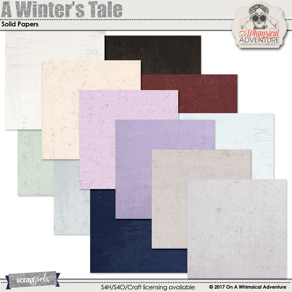 A Winter's Tale Solid Papers by On A Whimsical Adventure