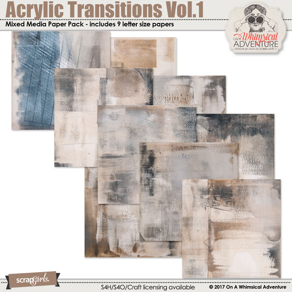 Acrylic Transitions Paper Pack Vol.1 by On A Whimsical Adventure