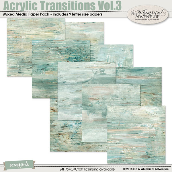 Acrylic Transitions Vol3 by On A Whimsical Adventure