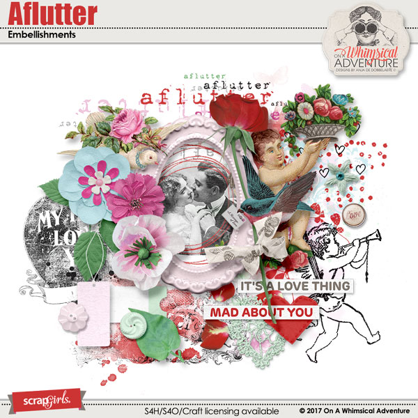 Aflutter Embellishments by On A Whimsical Adventure