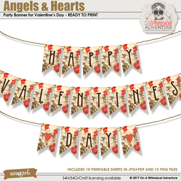 Angels And Hearts Banner by On A Whimsical Adventure