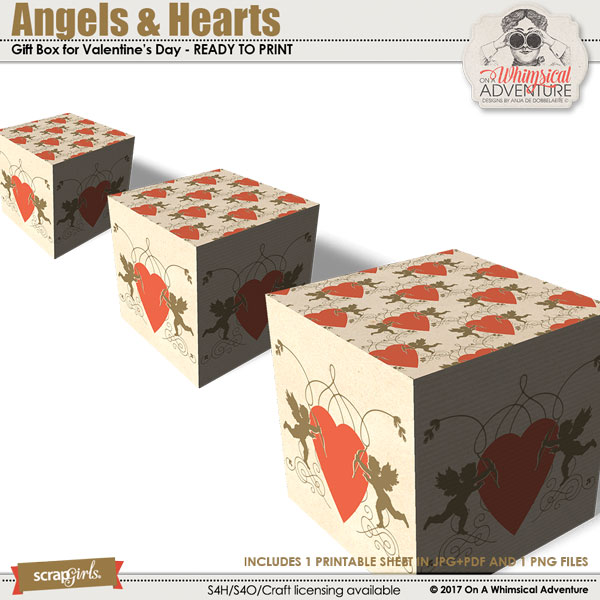 Angels And Hearts Box by On A Whimsical Adventure