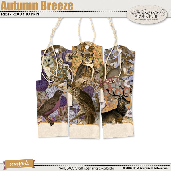 Autumn Breeze Tags by On A Whimsical Adventure