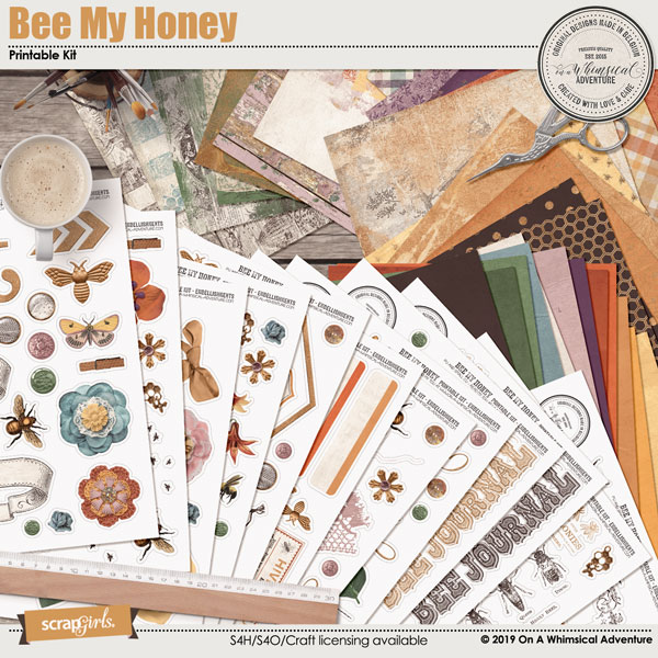 Bee My Honey Printable Kit by On A Whimsical Adventure