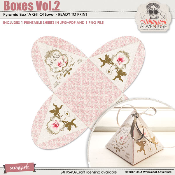 Boxes Vol2 Pyramid Box A Gift Of Love by On A Whimsical Adventure