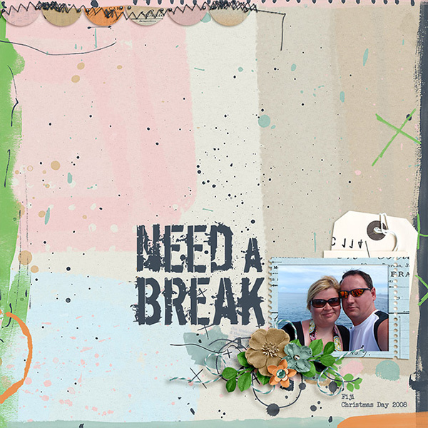 Digital layout using Value Pack Never Enough Hours by On A Whimsical Adventure