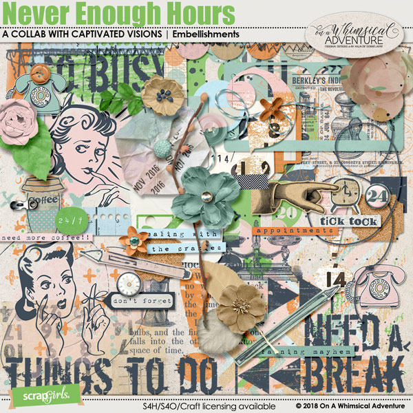 Never Enough Hours Embellishments by On A Whimsical Adventure