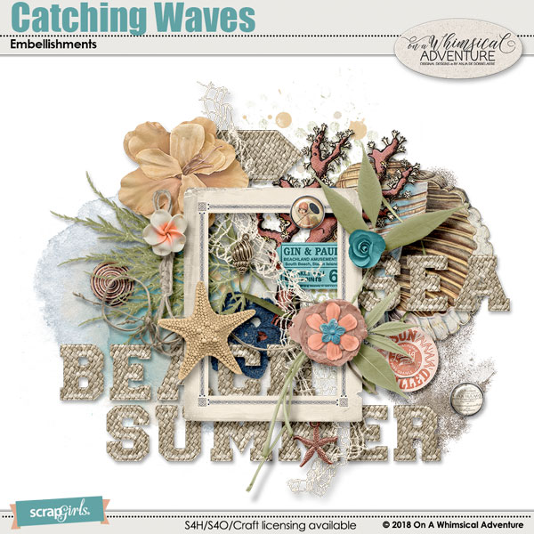 Catching Waves Embellishments by On A Whimsical Adventure