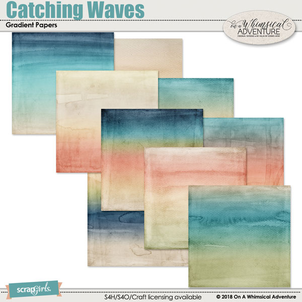 Catching Waves Gradient Papers by On A Whimsical Adventure
