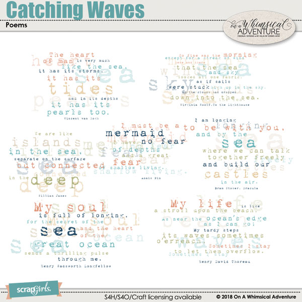Catching Waves Poems by On A Whimsical Adventure