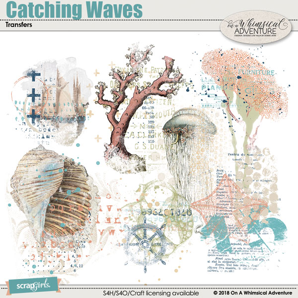 Catching Waves Transfers by On A Whimsical Adventure