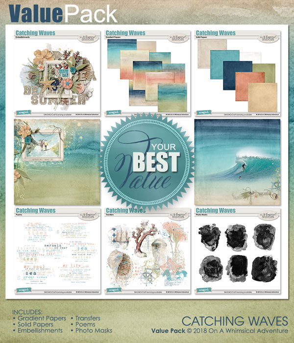 Value Pack Catching Waves by On A Whimsical Adventure