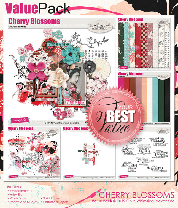 Cherry Blossoms Value Pack by On A Whimsical Adventure