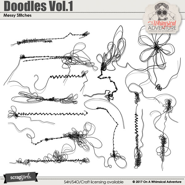 Doodles Vol.1 Messy Stitches by On A Whimsical Adventure