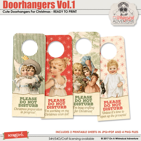 Doorhangers Vol1 by On A Whimsical Adventure
