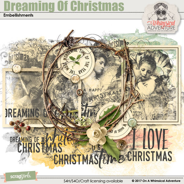 Dreaming Of Christmas Embellishments Mini by On A Whimsical Adventure