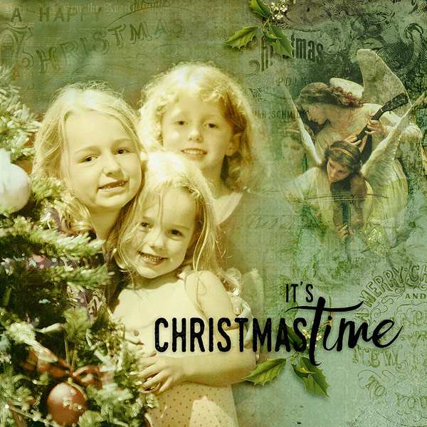 Digital layout using Dreaming Of Christmas Collection Mini by On A Whimsical Adventure