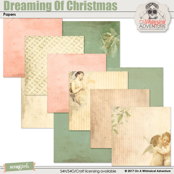 Dreaming Of Christmas Papers by On A Whimsical Adventure