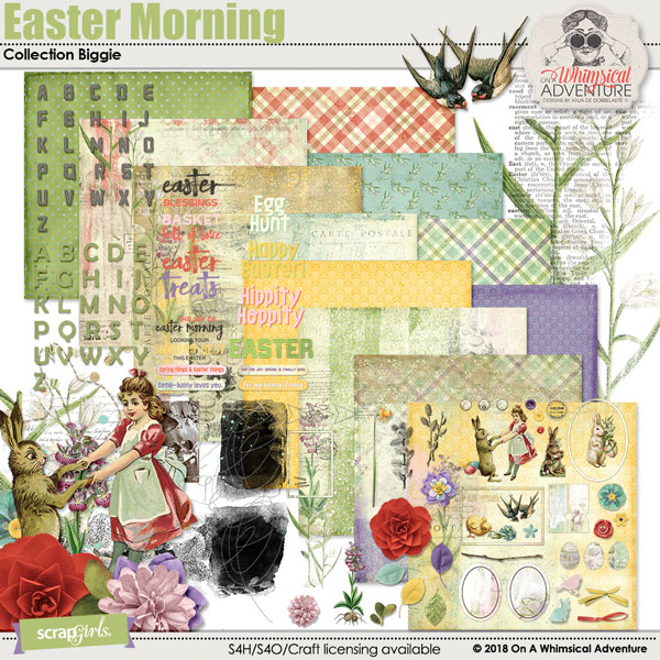 Value Pack 2 Easter Morning by On A Whimsical Adventure