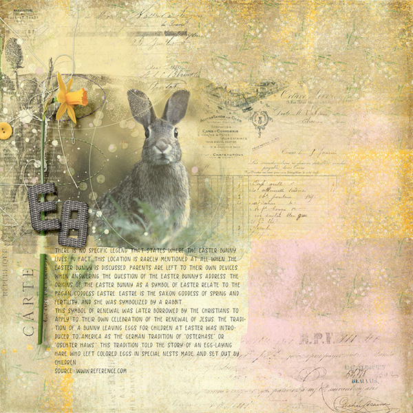 Digital layout using Value Pack Mega Easter Morning by On A Whimsical Adventure