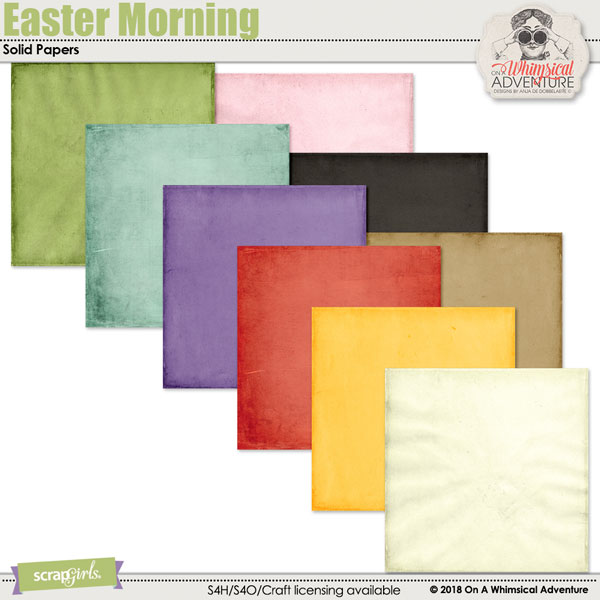 Easter Morning Solid Papers by On A Whimsical Adventure