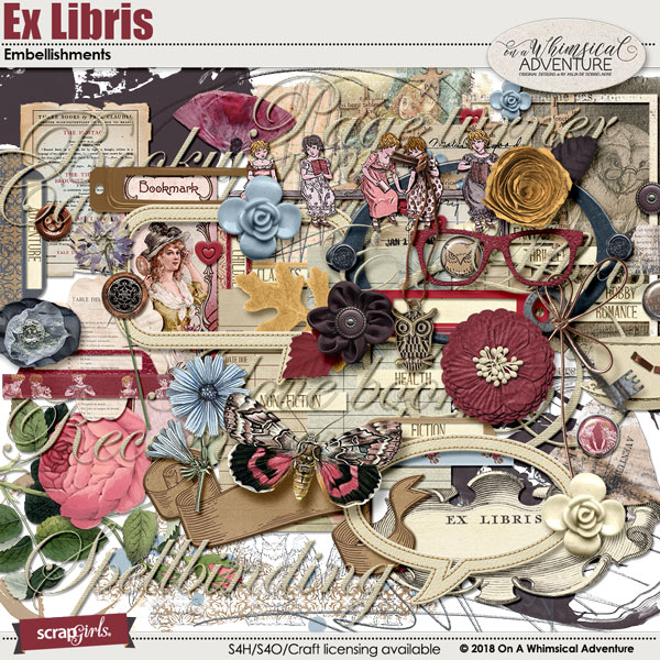 Ex Libris Embellishments by On A Whimsical Adventure