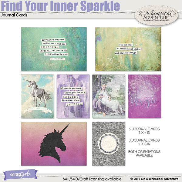 Find Your Inner Sparkle Journal Cards by On A Whimsical Adventure