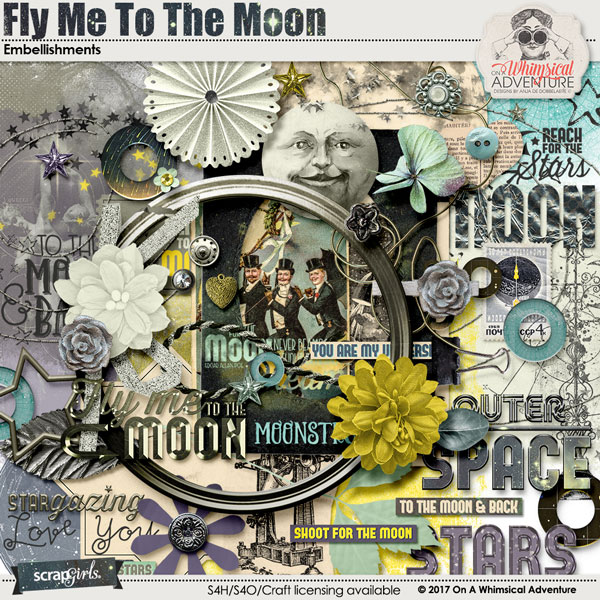 Fly Me To The Moon Embellishments